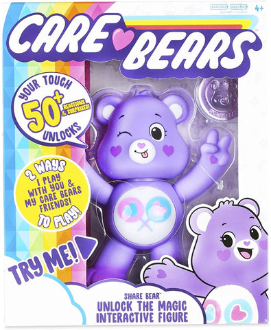 Care Bears Unlock the Magic Interactive Figure 5'' - Share Bear