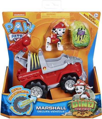 PAW PATROL 6059518 Dino Rescue Marshalls Deluxe Rev Up Vehicle with Mystery Dinosaur Figure
