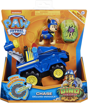 PAW PATROL 6059512 Dino Rescue Chases Deluxe Rev Up Vehicle with Mystery Dinosaur Figure