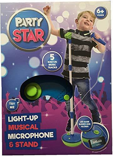 Party Star Kids Childrens Light Up Musical Microphone