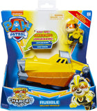 PAW PATROL 6056874 Mighty Pups Charged Up Rubbles Deluxe Vehicle with Lights and Sounds