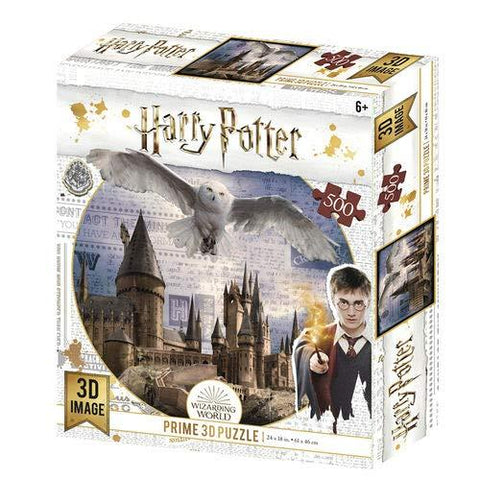 Prime 3D Harry Potter Hogwarts and Hedwig 3D Jigsaw Puzzle 500 Pieces (HP32513)