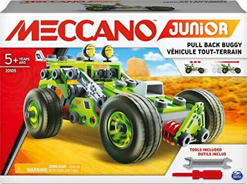 Meccano Junior 3 In 1 Deluxe Pull Back Buggy