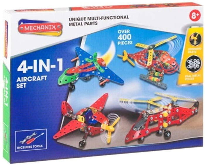 Scot New Mechanix 4-in-1 Metal Vehicle Aircraft Set For Any Child. - Aircraft