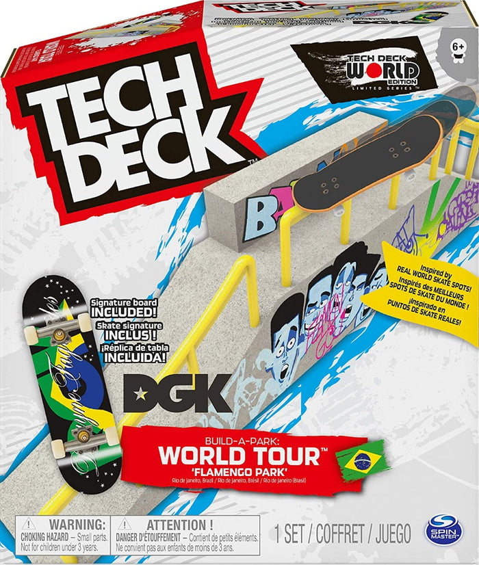 Tech Deck Build-A-Park World Tour, Ramp Set with Signature Fingerboard (Styles Vary)
