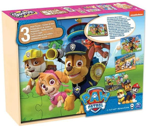 Paw Patrol 3 Wooden Puzzles