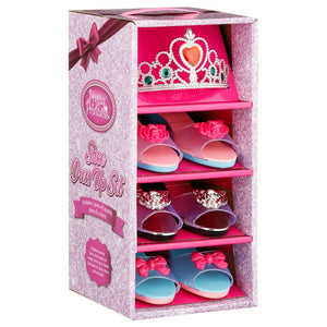 Pretty Princess Children's Shoe Fancy Dress Up Set With Tiara