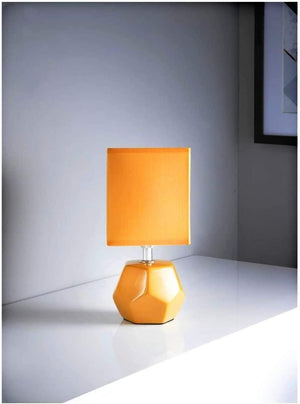 The Lighting Co Emily Geo Table Lamp Ochre Colour