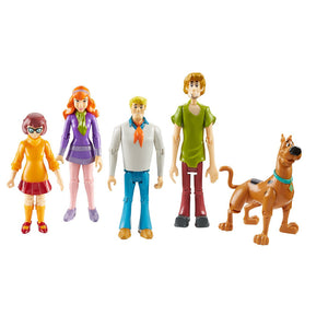 Scooby Doo Mystery Solving Crew 5 Figure Articulated Pack