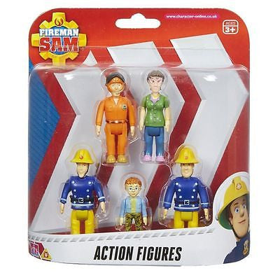 Fireman Sam 5 Figure Action Pack Tom, Dilys, Sam, Elvis & Norman