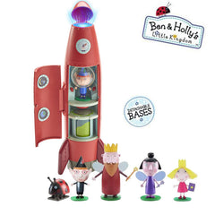 Ben & Holly Little Kingdom - Elf Rocket Playset with sounds and 6 figures Gift Set
