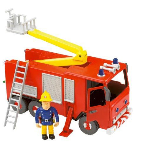 Fireman Sam Friction Fire Engine with Sam Figure