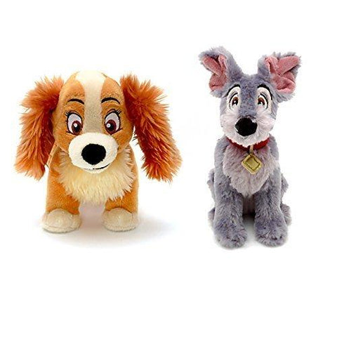 Official Disney Lady & The Tramp Soft Mini Plush Toys - Set of 2