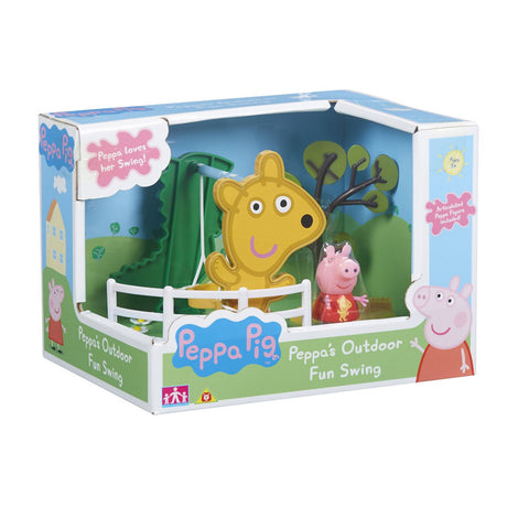 Peppa Pig Peppa's Outdoor Fun Swing Playset With Peppa Figure