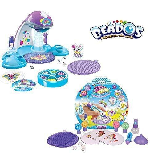 Deluxe Beados Beads Quick Dry Design Studio Station & Starter Pack Gift Set