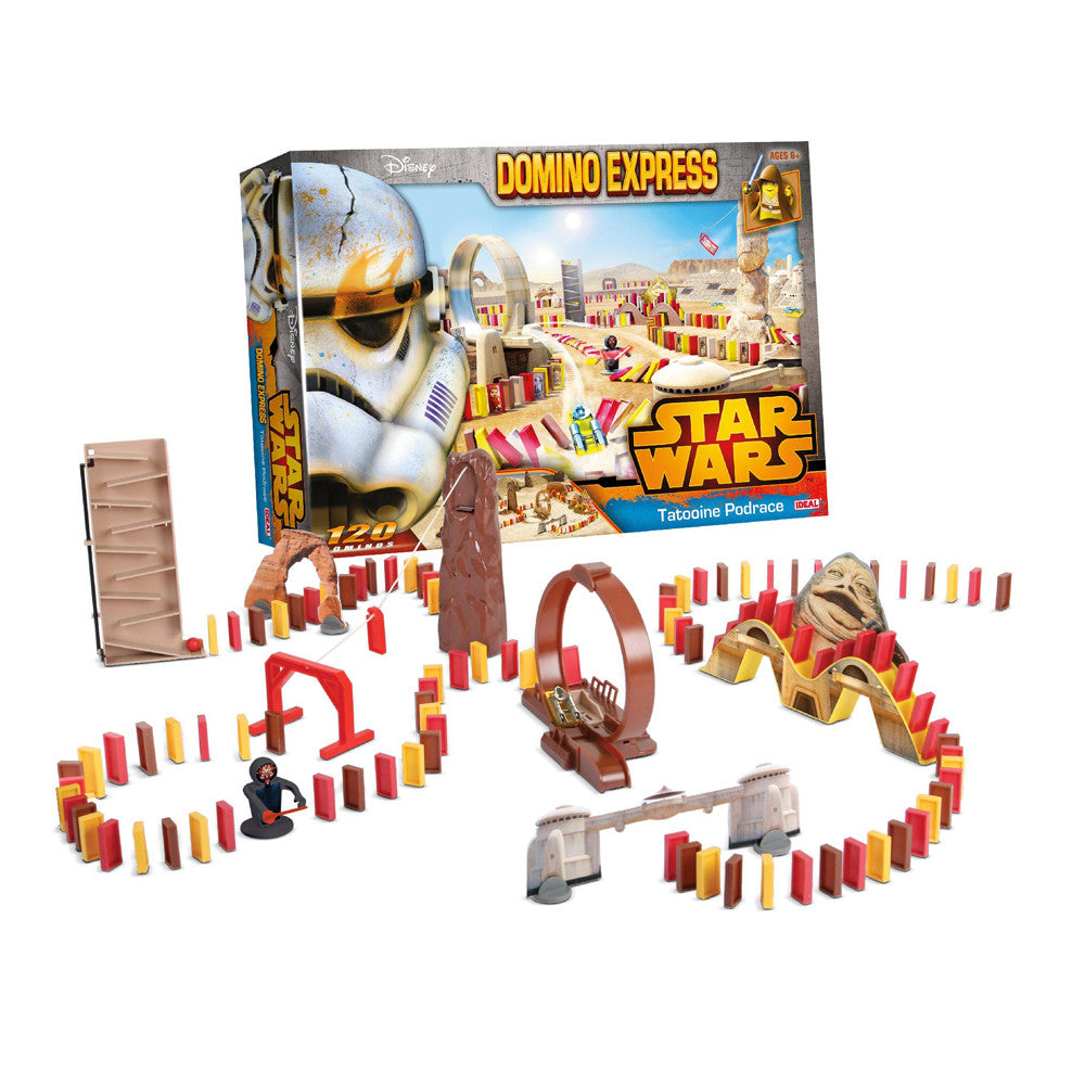 Disney Star Wars Domino Express 120 Piece Tatooine Pod Race Playset