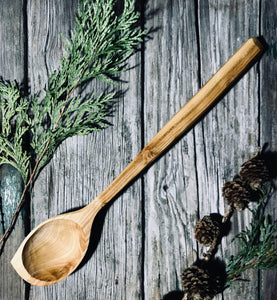 Medium Cherry Wood Pot Scraper Spoon OP255