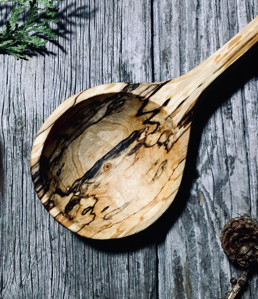 Spalted silver birch cooking spoon OP250
