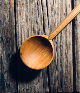 Long Handled Cherry Wood  Eating Spoon OP309