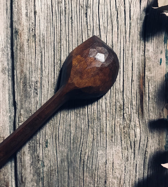 Ebonised Cherry Jar Spoon OP311