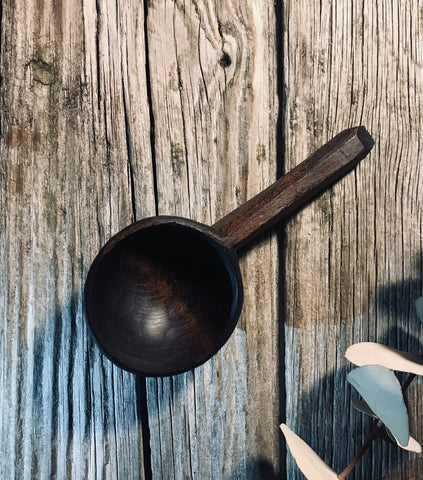 Ebonised Cherry Wood Coffee Scoop OP295