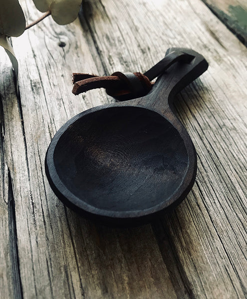 Ebonised Cherry Wood Coffee Scoop OP223