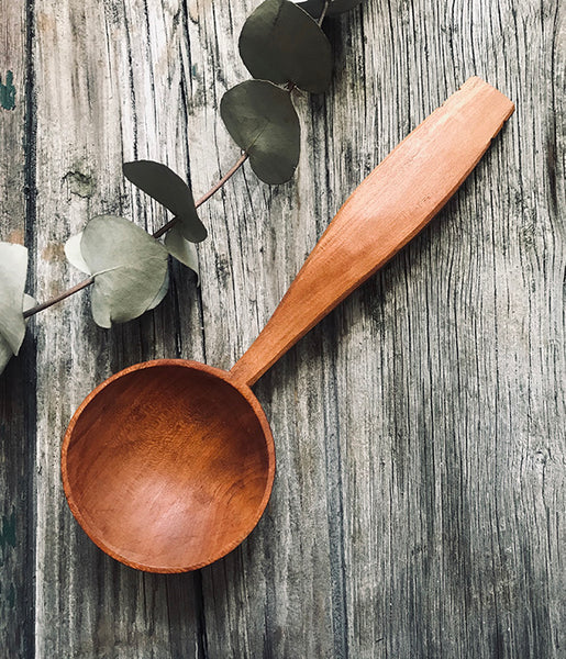 Decorative Cherry Wood Eating Spoon OP221