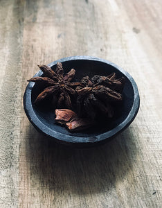 Ebonised Cherry Wood Pinch Pot OP218