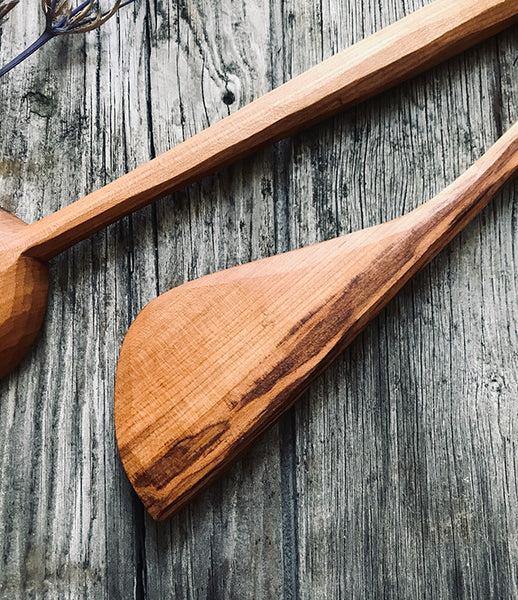 Spalted Cherry Wood Cooking Set OP211