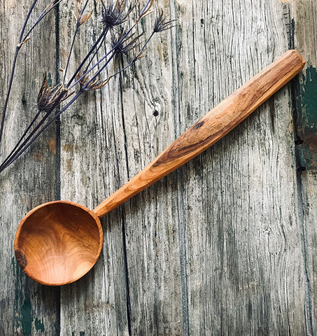 Cherry Wood Wabi Sabi Serving Spoon OP210