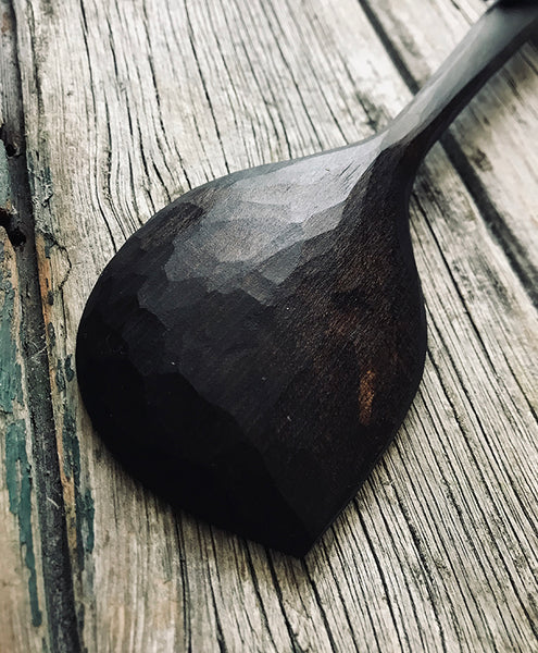 Ebonised Cherry Pot Scraping Spoon OP215