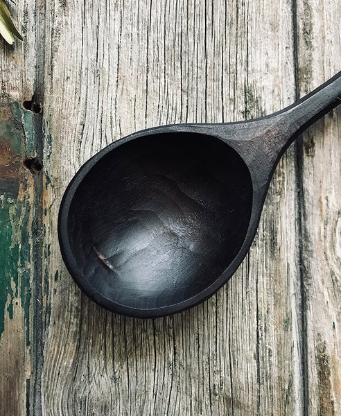Ebonised Cherry Wood Cooking Spoon OP216