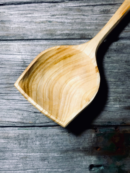 Cherry Wood Flat Topped Serving Spoon OP243