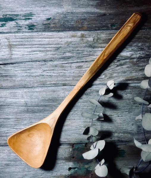 Cherry Wood Wok Spoon OP239