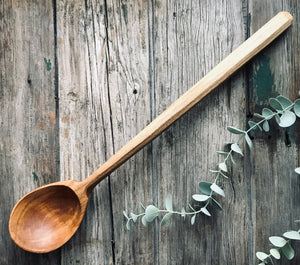 Giant Cherry Wood Cooking Spoon OP345