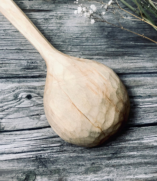 Large Spalted Silver Birch Cooking Spoon OP185