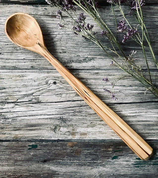 Spalted Silver Birch Cooking Spoon OP179