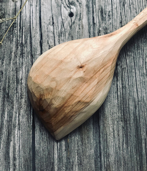 Willow Wood Pot Scraping Spoon OP198
