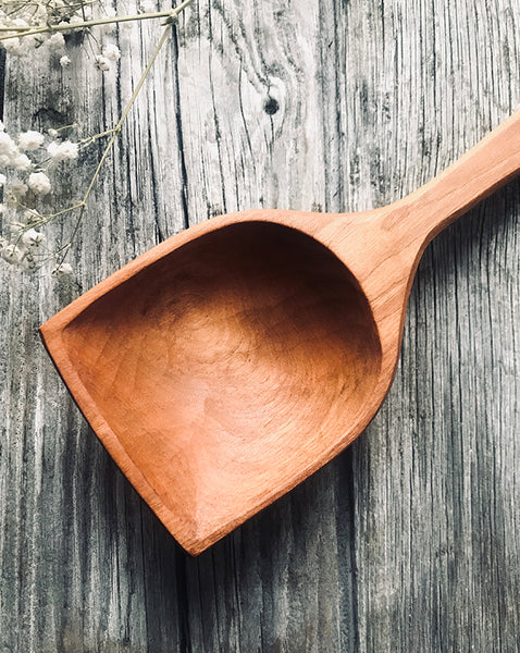Giant Cherry Wood Flat Top Cooking Spoon OP200