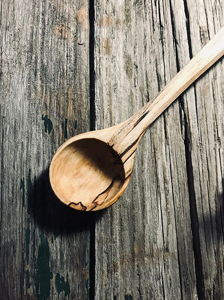 Spalted Silver Birch Jar Spoon OP276