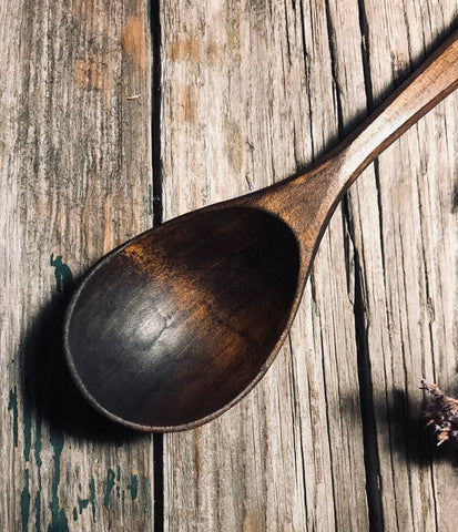 Ebonised Cherry Eating Spoon OP273