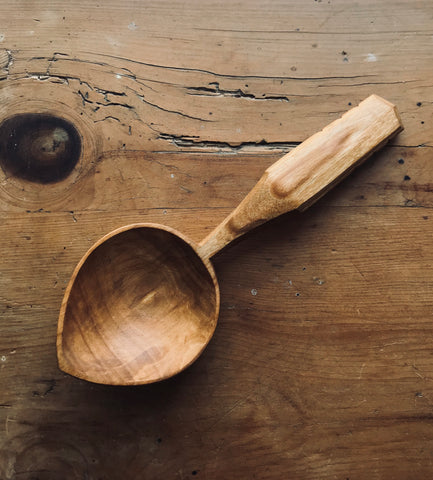 Decorative Cherry Wood Eating Spoon OP133