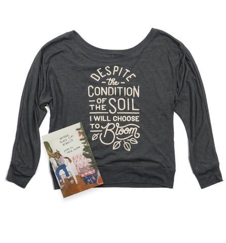 Bloom Girls Flowy Long Sleeve Shirt + Another Black Girl Miracle Bundle