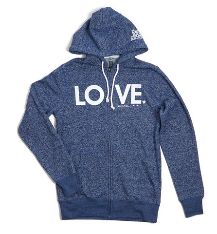 LOVE Zip Hoodie (Heather)