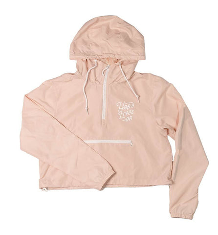 Hope Lives On Crop Windbreaker Jacket