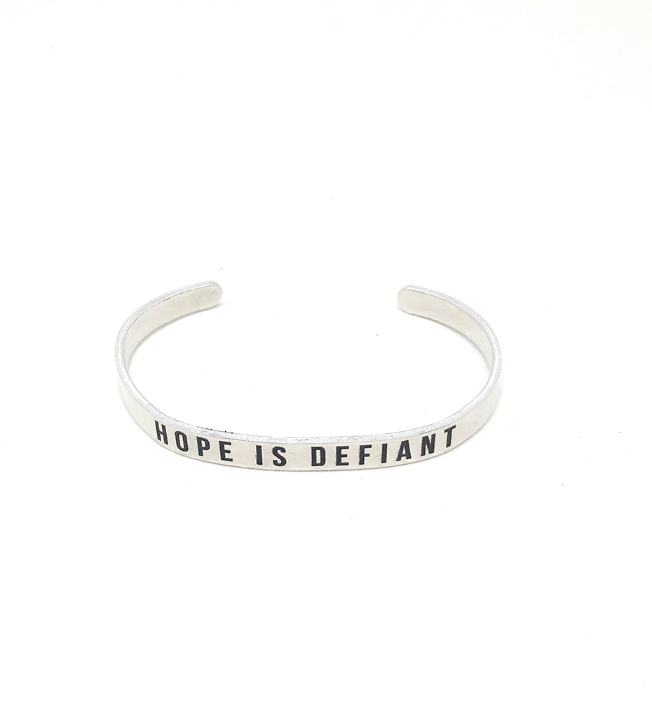 Hope Is Defiant Stacking Cuff