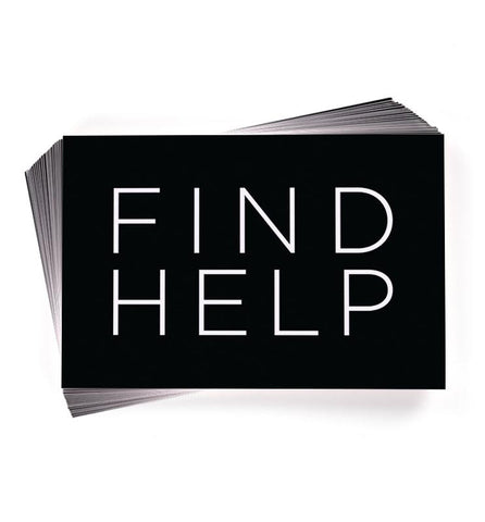 Find Help Info Cards (50 Pack)