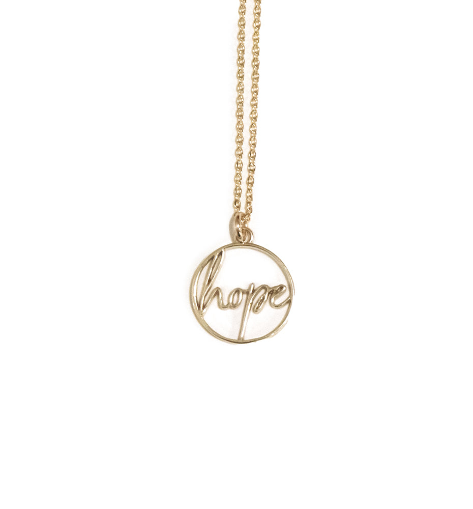 Hope Script Necklace