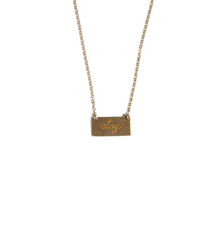 Stay Bar Necklace