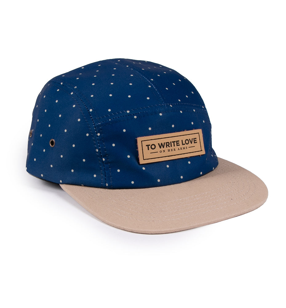Polka Dot 5-Panel Cap